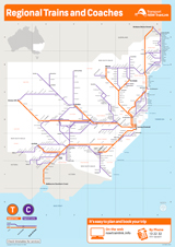 Regional Trains and Coaches network map